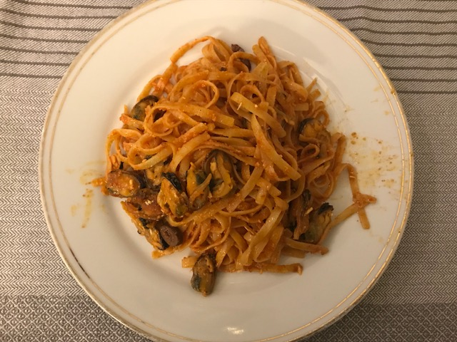 Brown Butter Pasta with Mussels and Mizithra Cheese