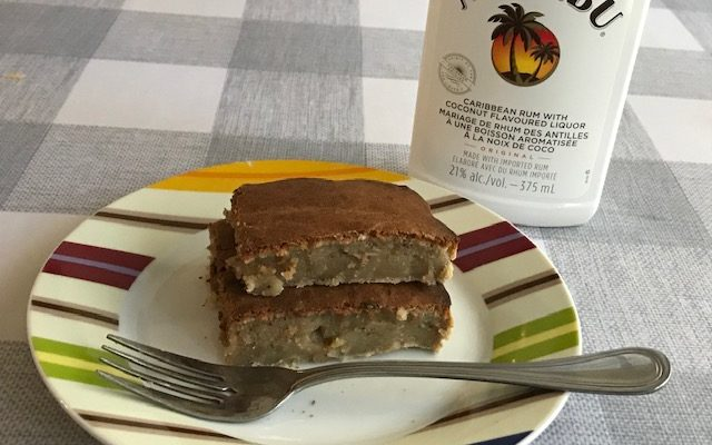 Banana Squares with Coconut Rum