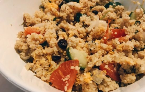Easy Cheddar Couscous Salad